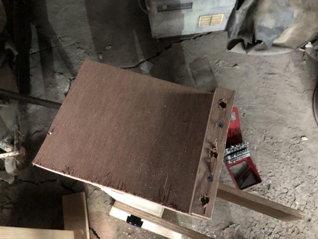 ハンドパン製作 ディンプル打ち台 受け皿取り付け前